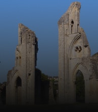 Glastonbury Abbey artist photo
