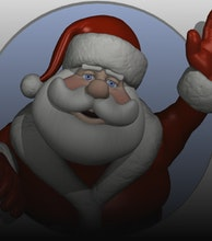 Father Christmas artist photo
