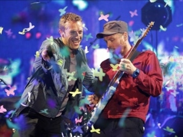 Chris Martin & Jonny Buckland artist photo