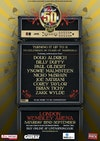 Flyer thumbnail for Marshall 50 Years of Loud Live: Doug Aldrich + Billy Duffy + Paul Gilbert + Yngwie Malmsteen + Nicko McBrain + Joe Satriani + Corey Taylor + Brian Tichy + Zakk Wylde + Al Murray