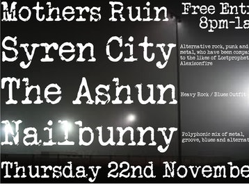 Syren City + The Ashun + Fair Weather Fiends + Nailbunny picture