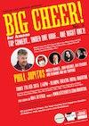 Flyer thumbnail for BIG CHEER for Amaze 3: Phill Jupitus, Angela Barnes, John Moloney, Ian Boldsworth as Ray Peacock, The Raymond And Mr Timpkins Revue
