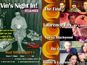 Vin's Night In: Laurence Fox + The Chain + The Find + Lorna Blackwood + Haiste and Lawrence picture