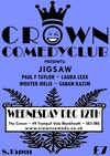 Flyer thumbnail for Crown Comedyclub Blackheath: Jigsaw, Paul F Taylor, Laura Lexx, Wouter Meijs, Saban Kazim