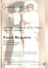 Flyer thumbnail for Fauré Requiem: Keswick Hall Choir