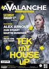 Flyer thumbnail for Avalanche - Tek My House Up: Alex Arnout