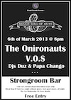 Flyer thumbnail for Mixed Bag Of Nuts: V.O.S + The Onironauts