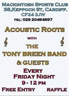 Flyer thumbnail for Acoustic Roots: Tony Breen Band