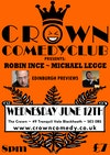 Flyer thumbnail for Crown Comedy Club Edinburgh Previews: Robin Ince, Michael Legge
