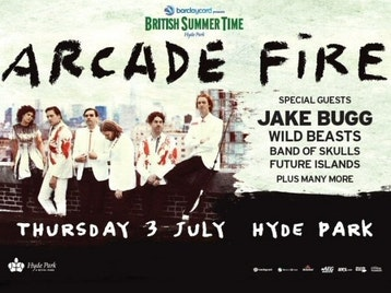 Barclaycard Presents British Summer Time Hyde Park: Arcade Fire + Jake Bugg + Wild Beasts + Band of Skulls + Future Islands picture