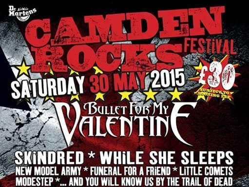 Camden Rocks Festival 2015 - Bullet For My Valentine, Skindred, New Model Army