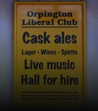 Orpington Liberal Club artist photo