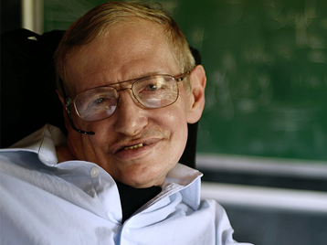 Professor Stephen Hawking artist photo