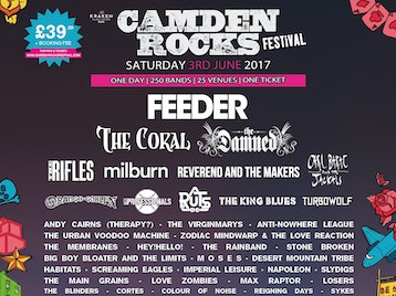 Camden Rocks Festival 2017 - Feeder, The Coral, The Damned, The Rifles, plus many more picture
