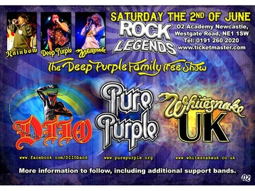 Deep Purple Family Tree: DIIO - A Tribute to Ronnie James Dio, Pure Purple, Whitesnake UK - The Tribute picture