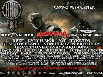 Hard Rock Hell 2017: Dee Snider, Airbourne, Black Star Riders, Reef, Lynch Mob, Y&T, Tyketto, GUN, Toseland, Von Hertzen Brothers, Graveltones, Wayward Sons, Black Aces, Idlewar, Sideburn, Buffalo Summer, Goldray, Hark, Burnt Out Wreck, The New Roses, Syron Vanes, Dead City Ruins, Bad Touch, Killcode, Western Sand, The Blanko, The Brink, Syteria, King Creature, Florence Black, The Jokers, Fire Red Empress, The Cut, Louder Still, Wicked Stone picture