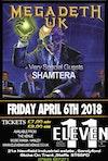 Flyer thumbnail for Megadeth UK, ShamterA