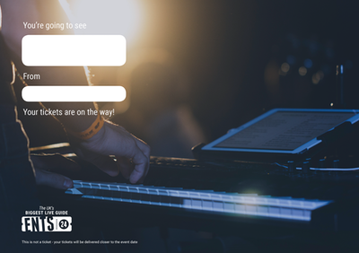Concert keyboard gift certificate
