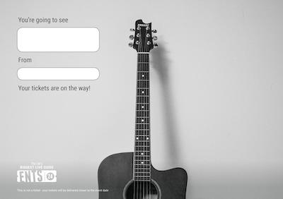 Guitar gift certificate