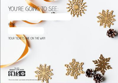 Golden snowflakes gift certificate