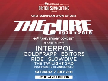 Barclaycard presents British Summer Time Hyde Park 2018: The Cure, Interpol, Goldfrapp, Editors, Ride, Slowdive, The Twilight Sad picture