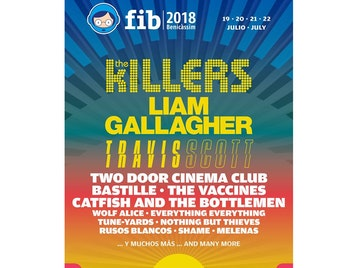 FIB Benicassim Festival 2018: The Killers, Liam Gallagher, Travis Scott, Two Door Cinema Club, Bastille, The Vaccines, Catfish and the Bottlemen, Wolf Alice, Everything Everything, tune-yards, Nothing But Thieves, Rusos Blancos, Shame, Melenas picture
