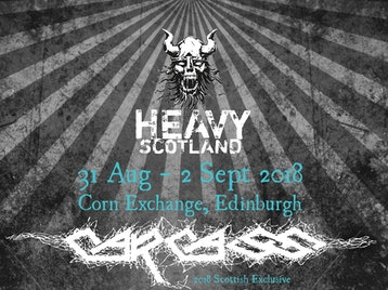 Heavy Scotland 2018: Ensiferum, Exhumed, Corrupt Moral Altar, Sisters of Suffocation, Perpetua, Carcass, Bleed From Within, Gama Bomb, Whorion, Children of Bodom, Decapitated, Hate, Nervosa, Ost + Front, MartYriuM, Defacer picture