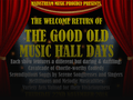 The Good Old Music Hall Days November 2018 event picture