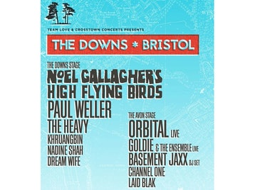 The Downs Bristol 2018: Noel Gallagher's High Flying Birds, Paul Weller, The Heavy, Khruangbin, Nadine Shah, Dream Wife, Paris Youth Foundation, Orbital, Goldie MBE, Basement Jaxx (DJ Set), Channel One Sound System, Laid Blak picture
