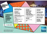 Somerset House Summer Series 2018 artist photo