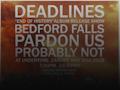 Deadlines, Bedford Falls, Pardon Us event picture