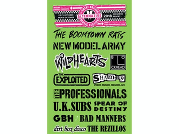 The Great British Alternative Music Festival: Boomtown Rats, New Model Army, The Wildhearts, The Blockheads, The Exploited, Sham 69 (Original 1977 Line-Up), The Professionals, UK Subs, Spear Of Destiny, GBH, Bad Manners, Dirt Box Disco, Flight Brigade, The Midlife, The Salford Jets, Max Splodge, The Transmitters, The Members, The Lambrettas, Hands Off Gretel, No Thrills, Hung Like Hanratty, The Lengthmen, Jack The Lad, The Blue Carpet Band, The Relitics, Pete Bentham & The Dinnerladies, Bus Station Loonies, Delinquents, The Witchdoktors, Verbal Warning, Desperate Measures, Drongos For Europe, Vomit picture