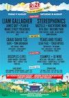 Flyer thumbnail for RiZE Festival: Liam Gallagher, James Bay, Plan B, Manic Street Preachers, Circa Waves, Miles Kane, Ash, BILK, Stereophonics, Bastille & more