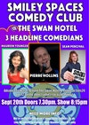 Flyer thumbnail for Smiley Spaces Comedy Club: Pierre Hollins, Maureen Younger, Sean Percival
