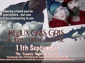 The Tuesday Night Music Club: Beaux Gris Gris & The Apocalypse picture