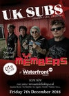 Flyer thumbnail for UK Subs, The Members