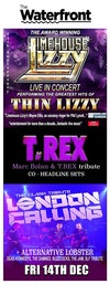 Flyer thumbnail for 25th Anniversary Tour: Limehouse Lizzy, Too REX