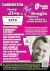 Flyer thumbnail for Jump Jive & Boogie Weekend: Si Cranstoun, The Swing Commanders, Earl Jackson Four, The Ding Dong Daddios, Rockin' the Joint, Sweet Georgia Boys, Pat da Kat