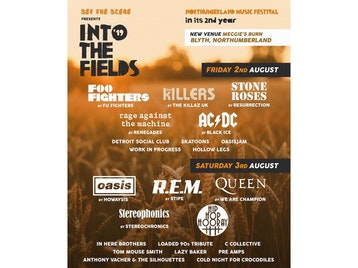 Into The Fields Music Festival 2019: Fu Fighters, The Killaz UK, Resurrection Stone Roses, Renegades, Black Ice, Detroit Social Club, The Skatoons, Oasisjam, Work In Progress, Hollow Legs, Howaysis, R.E.M. by Stipe - The Definitive Tribute, We Are Champion - A Tribute To Queen, Stereochronics, Hip Hop Hooray picture