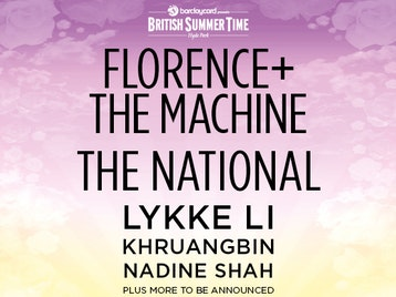 Barclaycard presents British Summer Time Hyde Park 2019: Florence + The Machine, The National, Lykke Li, Khruangbin, Nadine Shah picture