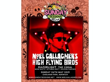 Sunday Sessions Norwich: Noel Gallagher's High Flying Birds, Razorlight, The Coral, Neon Waltz, October Drift, Ducking Punches picture
