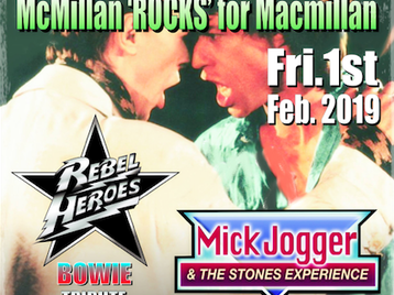 Rocks for MacMillan Cancer Support: Rebel Heroes Bowie Tribute, Mick Jogger and The Stones Experience picture