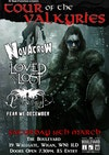 Flyer thumbnail for Tour of the Valkyries: Novacrow, Pallas Athena, The Loved And Lost, Fear Me December
