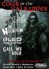 Flyer thumbnail for Tour of the Valkyries: Novacrow, Bled the Fifth, The Loved And Lost, Gallows High
