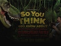 So You Think You Know About Dinosaurs…?!: Dr Ben Garrod event picture