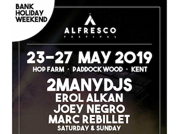 "Alfresco Festival: 2ManyDJs, Erol Alkan, Joey Negro, Marc Rebillet, Andy Blake, Bawrut, Bill Brewster, Chida, Eric Duncan, Identified Patient, Ivan Smagghe, James Lavelle, Jennifer Cardini, Justin Roberson, Kuniyuki Takahashi, Man Power, Nancy Noise, Neurotic Drum Band, Pete Herbert, PBR Streetgang, Prins Thomas, Terry Farley, Terry Francis, Vox Low, Warmduscher, Willikens & Ivkovic, Zombies In Miami, Aerosol, Al MacKenzie, Allies , Amy Alsop, Andy Taylor, Andy Nicholls, Apiento, Ben Random, Bird Of Paradise, Cammy, Charles Green, Childsplay, Civilisation Of The Rough, Clandestino, Cosmic Sanj, David Cardoso, Dean Griffin, Deaf By Disco , Decious, Discojuice, Dizko Delta, Dharma, DJ Ironing Board, Donna Leake, Douglas Chippendale, Eclectics, Ed Mahon , Eddie Richards, Elusive Wax, Eren, Ethan Owen, Feel The Drive, Floydy & Rogers , Forriner, Franklin, Freddy Love, Grant Holmes, Gilded Pleasures, Guy Williams, Jack Medley's Secure Men, Jah Shabby, Jamie Tolley, Jason Bakal , Jel Wood, Jonny Posh, Jnr Tuk, John Tree, Ian Blevins, Imogen , Jaye Ward, Jaegerossa, Jonjo Jury, Logan Fisher , Larus, Lee Fisher, Lisa Loud, Loose Joints DJs, Lord Ant B, Man 2.0 , Mark Collings, Marvin Dez , Matt & Jim Sancho, Mind Fair, Michael Prestage , Moritz, Mr Paul, Nathan Coles, Onsight , Oscillate, Osher, Ovre, Pete Callard, Paul Gardner, Paul Daley, Peza, Phickle, P.I.D.R, Ramjac, Richard Tovey, Sally Love, Samback2myhouse, Si Kurrage, Mr Shiver, Si Parkinson, Smiffy, Steve KIW, Strickland, The Rev JP, The Caulfield Beats, The Feel Good , The Two Mamarachos, Tobie C, Stash Magnetic, Tronik Youth, Wildblood & Queenie, Will Graney, 7""s Of Bliss picture"