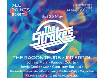 All Points East Festival 2019: The Strokes, The Raconteurs, Interpol, Johnny Marr, The Fat White Family, Courtney Barnett, Jarvis Cocker, Anna Calvi, Parquet Courts, Temples, Connan Mockasin, Amyl And The Sniffers, Angie McMahon, BC Camplight, Yak, Dream Wife, Our Girl, Viagra Boys, Bakar, The Nude Party, Willie J Healey, Demob Happy picture