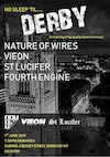 Flyer thumbnail for No Sleep Til Derby: Nature of Wires, Vieon, St Lucifer, Fourth Engine