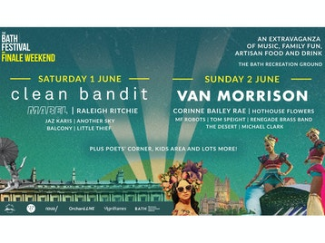 Bath Festival Finale Weekend 2019: Clean Bandit, Mabel, Raleigh Ritchie, Jaz Karis, Balcony, Little Thief, Another Sky, Van Morrison, Corinne Bailey Rae, Hothouse Flowers, MF Robots, Renegade Brass Band, The Desert, Michael Clark, Tom Speight picture