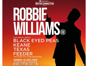 Robbie Williams, Black Eyed Peas, Keane, Texas, Feeder picture